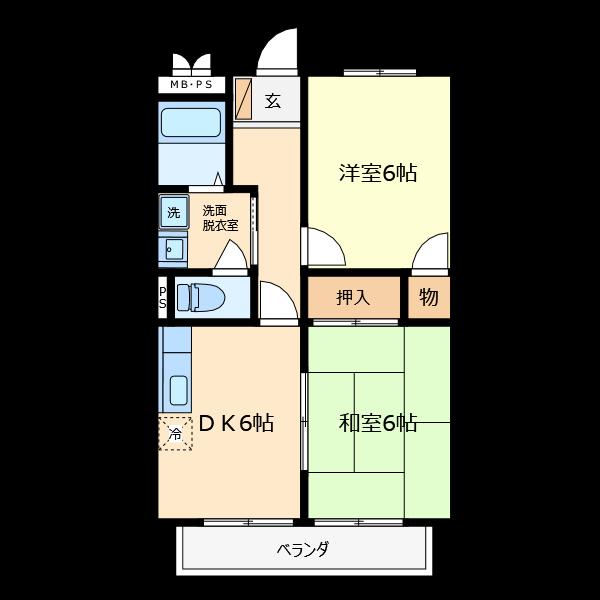 スタンダードな間取りはライブラリのサンプルに収納されています。