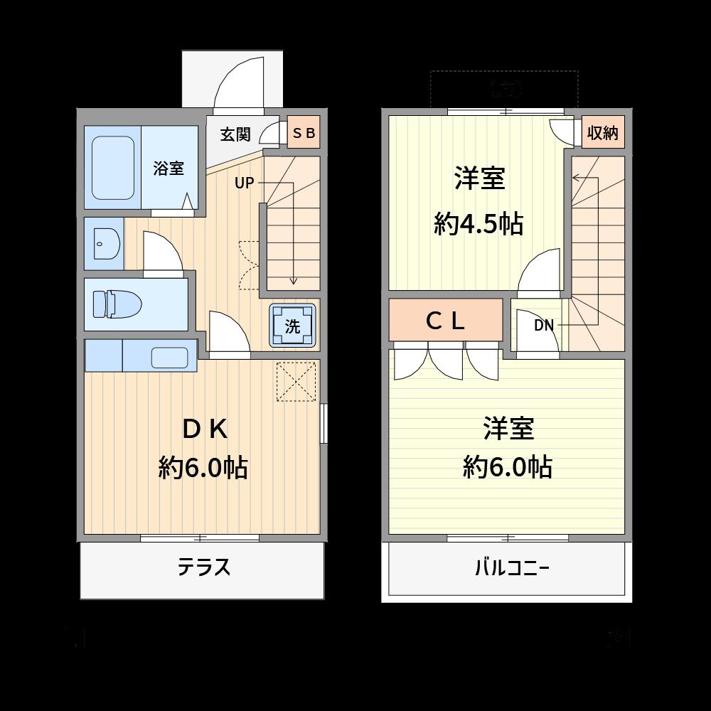 階段も部品を当てはめるだけで作成できます。(使用カラー:カラー1、壁色3)